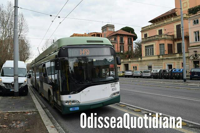 Roma - I filobus sono tutti fermi nelle rimesse: 75 mezzi in meno per i cittadini