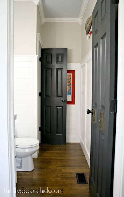 black interior doors white room