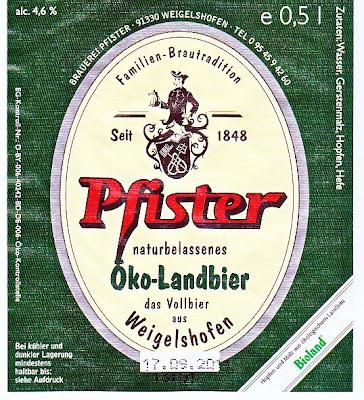 Brauerei Pfister/Weigelshofen: Öko-Landbier (Nr. 97)