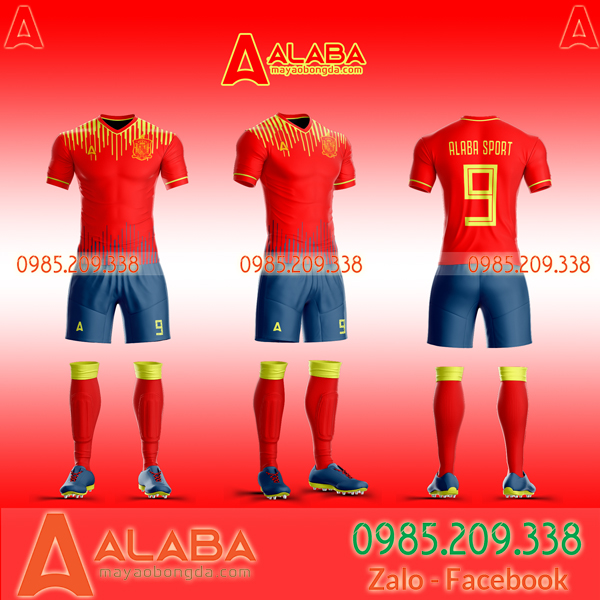 Áo đội tuyển Tây Ban Nha tự thiết kế