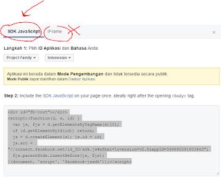 Kode Fanspage tanpa menggunakan Iframes