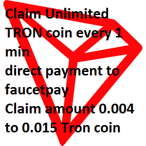 New TRON Faucet 2020 (keepcrypto) | Claim unlimited 0.003 to 0.01 Satoshi every 1 min | TRON Faucet | Tron Faucet