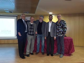 Ο Ντίνος Καρύδης με το Δημήτρη Κωνσταντάρα, το Μιχαήλ Άνθη και το Στέλιο Κανάκη