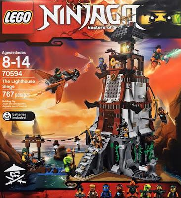 TOYS : JUGUETES - LEGO Ninjago  70594 Asedio al Faro | The Lighthouse Siege  Producto Oficial 2016 | Piezas: 767 | Edad: 8-14 años  Comprar en Amazon España