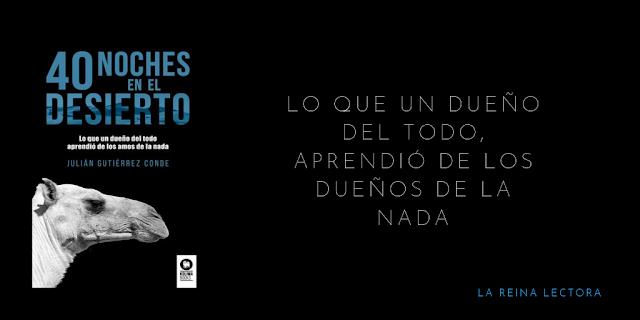 libro 40 noches en el desierto de Julián Gutiérrez Conde