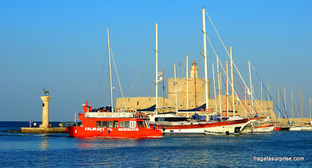 Transporte para Faliraki, Ilha de Rodes, Grécia