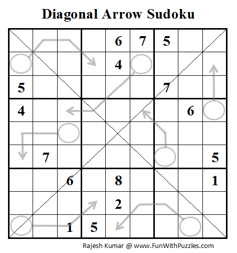Diagonal Arrow Sudoku (Daily Sudoku League #99)