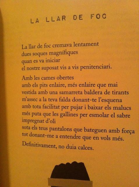 Poema de 'Morbo', Roser Amills, Cossetània Ed. 2012, col.leció 'De pèl a pèl'