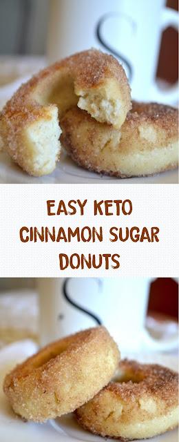 EASY KETO CINNAMON SUGAR DONUTS