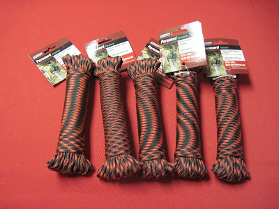 Paracord for Operation Christmas Child 10 to 14 year old boy shoeboxes.