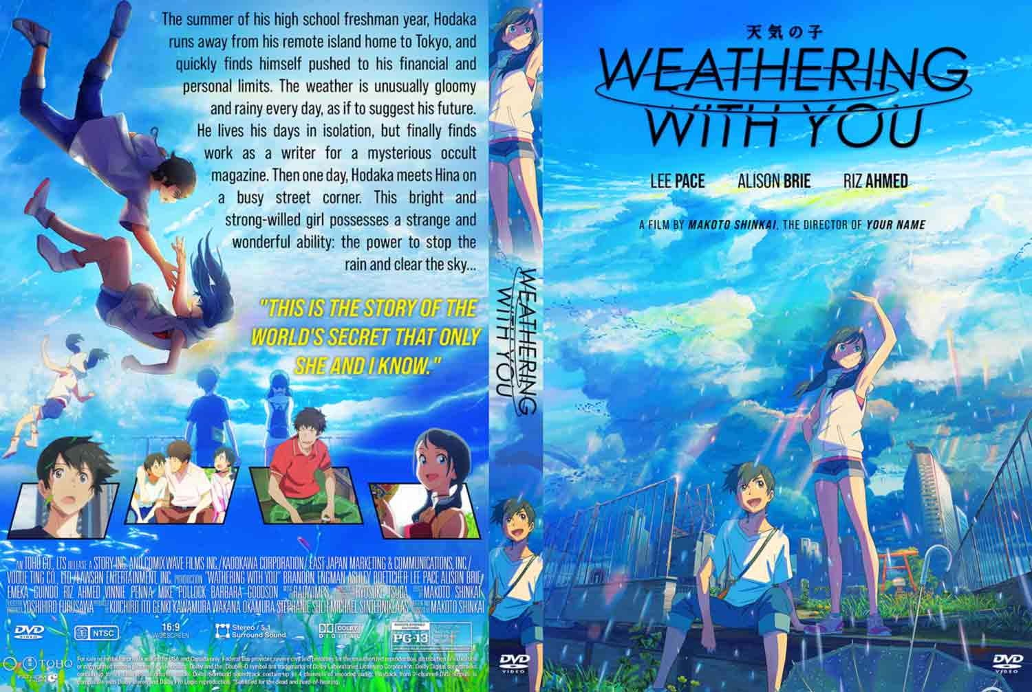 Weathering With You 2019 Dvd Cover Cover Addict Free Dvd Bluray Covers And Movie Posters