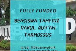 Fully Funded Beasiswa Tahfidz Darul Qur'an Takhassus