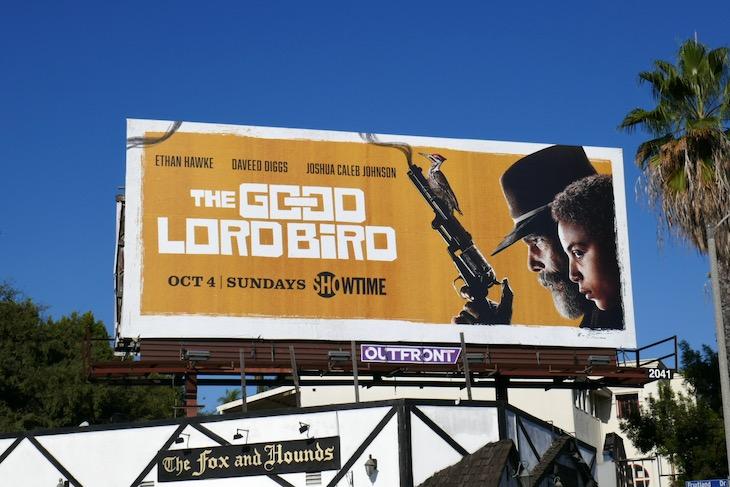 Good Lord Bird series launch billboard