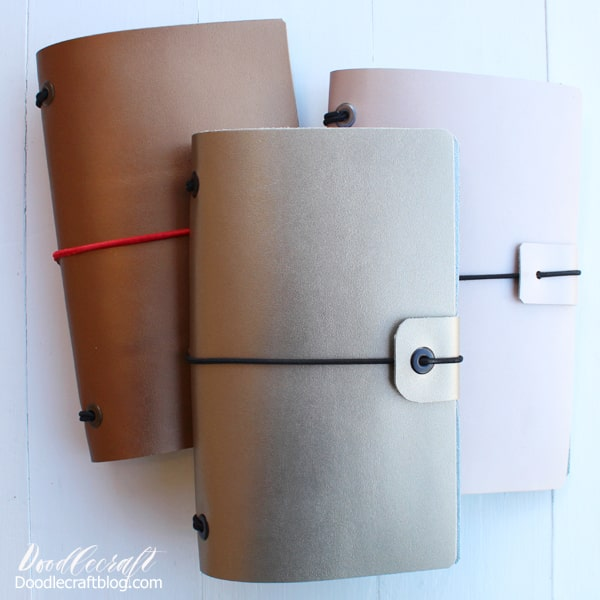 I love notebooks so much--you can never have too many! This is my newest and most favorite book, because it uses regular paper and is refillable. Fill your leather journal with sketch paper, watercolor paper, kraft paper or just cheap copy paper.