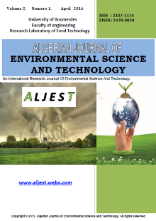 ALGERIAN JOURNAL OF ENVIRONMENTAL SCIENCE AND TECHNOLOGY (ALJEST)