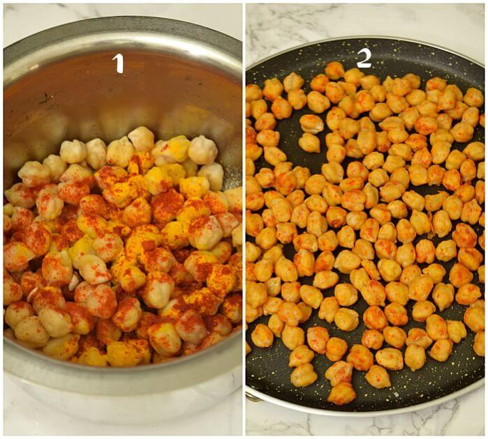 how to roast chickpea for tikka masala