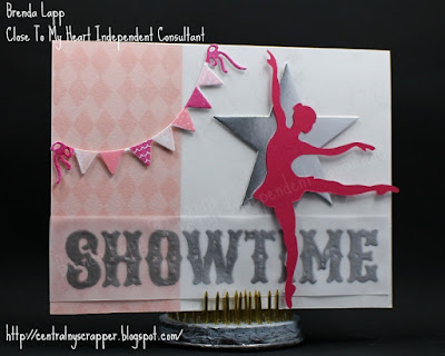 card created for Showtime Blog Hop