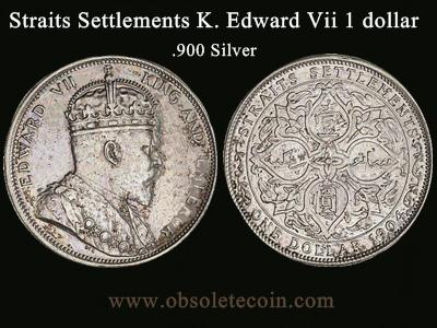 Straits Settlements King Edward Vii 1 Dollar Coin Price