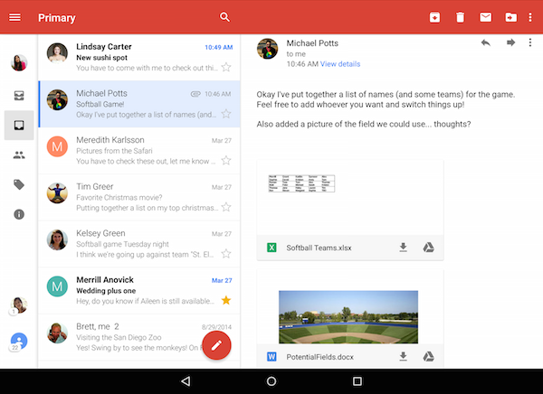 how to open pdf email attachment on android