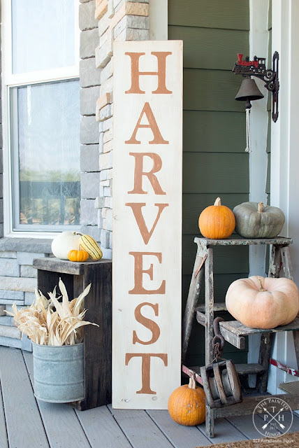 diy harvest sign with free printable letters