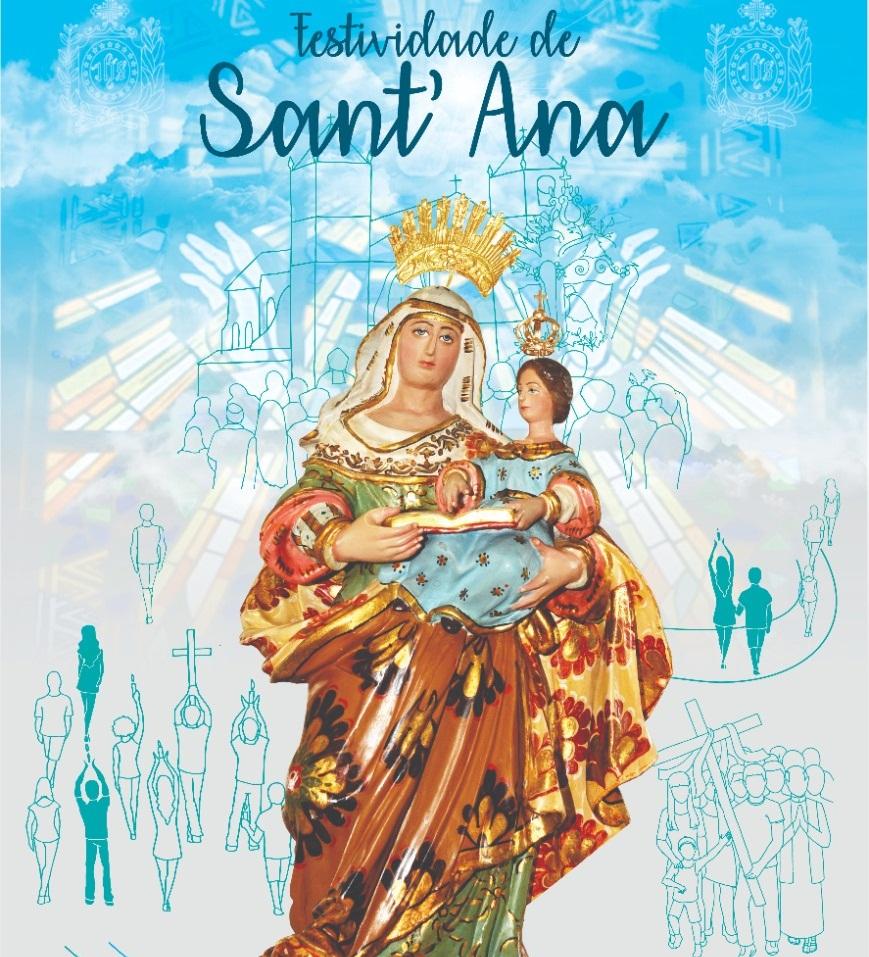 Cartaz da festividade de Sant´Ana 2020 é apresentado para povo católico obidense.