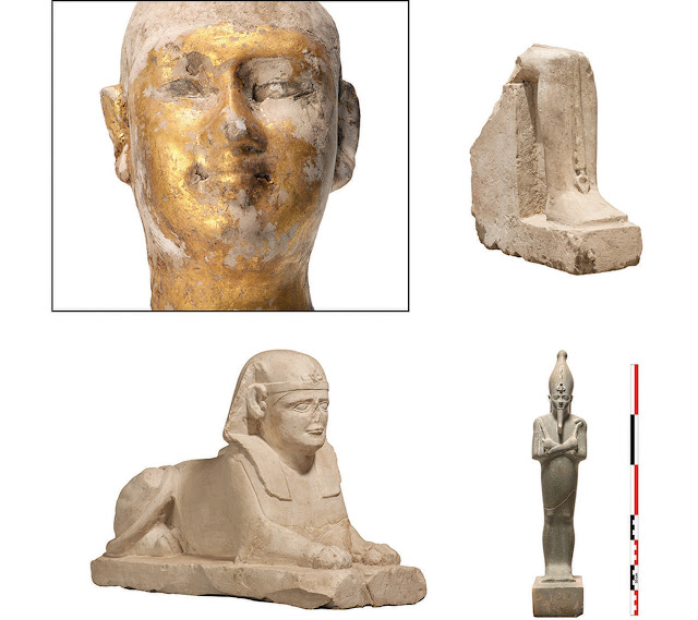 Ancient Egyptian figurines found in Karnak temple pit