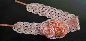 Patrón #1405: Cintillo a Crochet