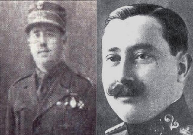 Pablo Arredondo de Acuña y José de Acuña y Díaz-Trechuelo, dos de los sobrinos muertos en combate