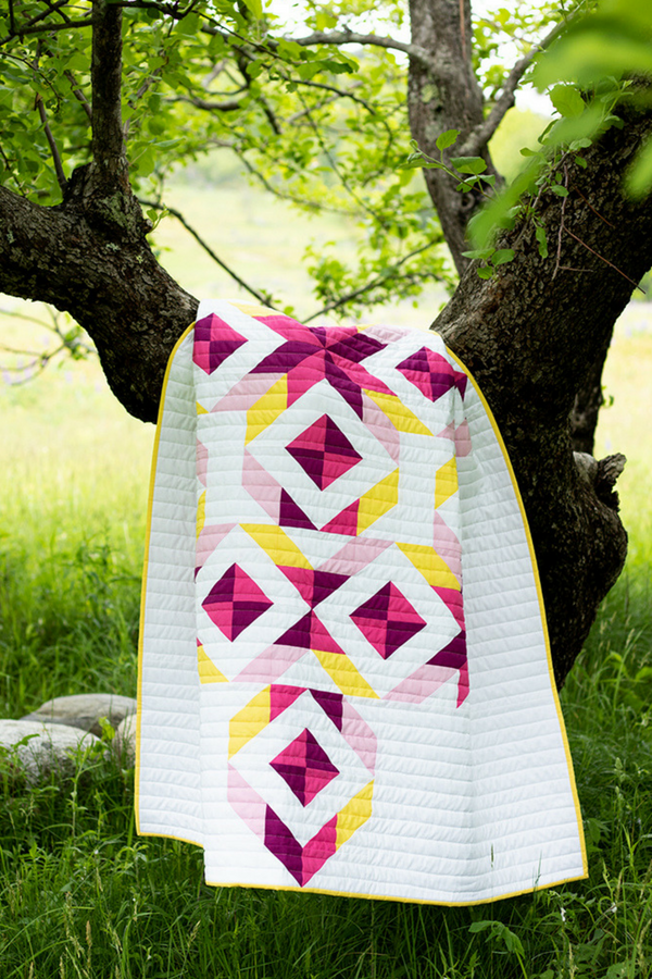 Tribal Diamond Quilt in a tree | 2019 Quilter's Planner | Shannon Fraser Designs | Photo by Kitty Wilkin of Night Quilter