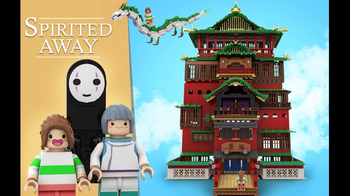 レゴアイデアで『千と千尋の神隠し』が製品化レビュー進出!2020年第3回1万サポート獲得デザイン紹介