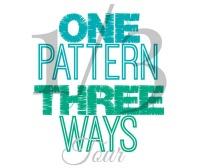 1Pattern:3Ways Blog Tour