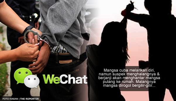 Remaja dirogol 5 lelaki yang baru kenal di WeChat secara bergilir-gilir