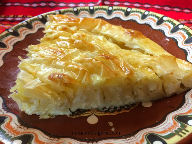 Banitsa pastel de queso Bulgaria