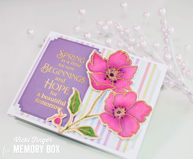 CL5258 Wild Rose Stem clear stamp set
