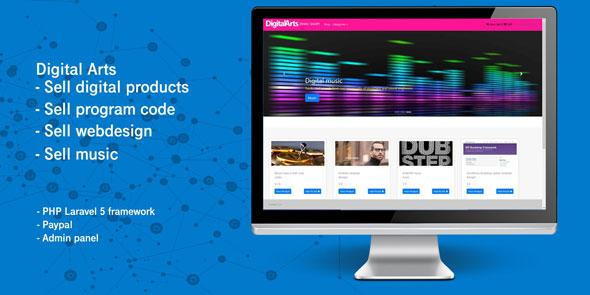 سكربت موقع لبيع منتجاتك الالكترونية مجانا - Laravel Digital Products