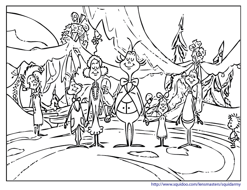 grinch coloring pages - grinch coloring pages squid army