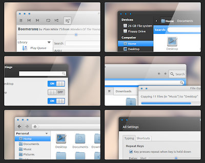 Boomerang GTK 3.0 Theme + Faience GNOME Shell Theme