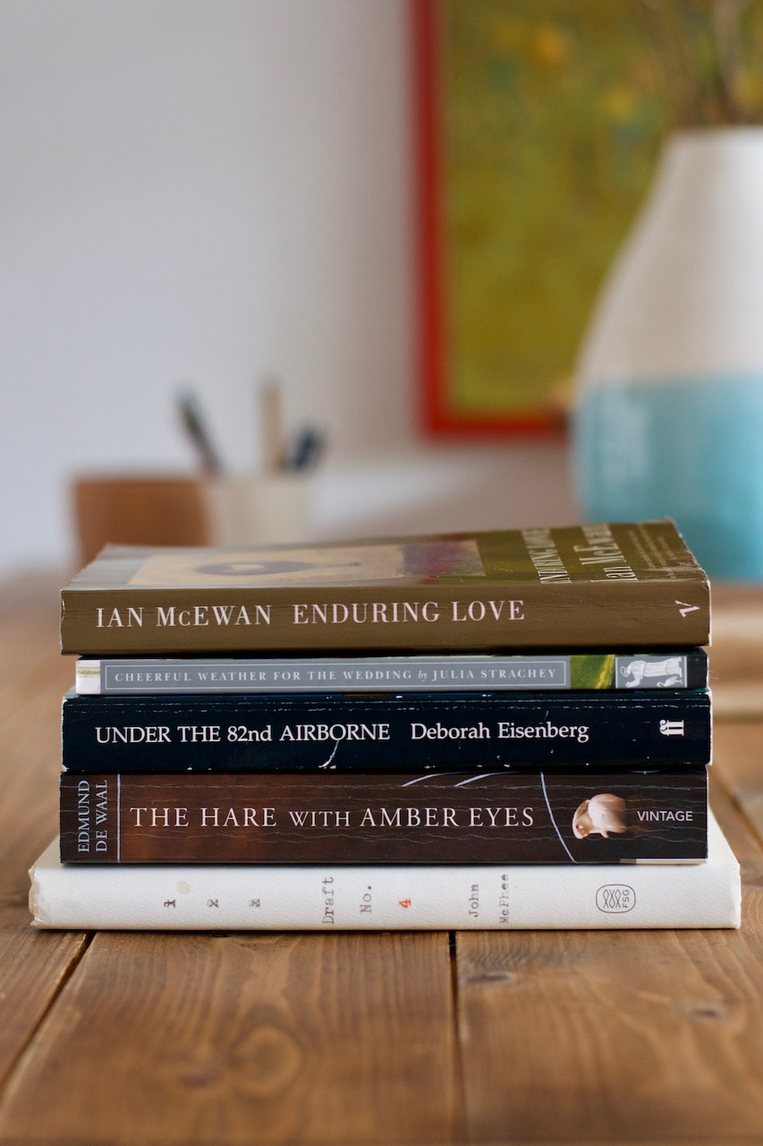 № 15 reading list: Eisenberg, McPhee, McEwan · Lisa Hjalt