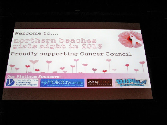 Charity Event | 13 September 2013 | Girls Night In | Dee Why RSL