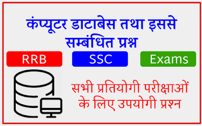 Computer Database and Related Questions In Hindi