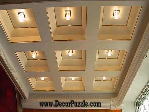 coffered ceiling, plaster of paris ceiling and molds designs 2017