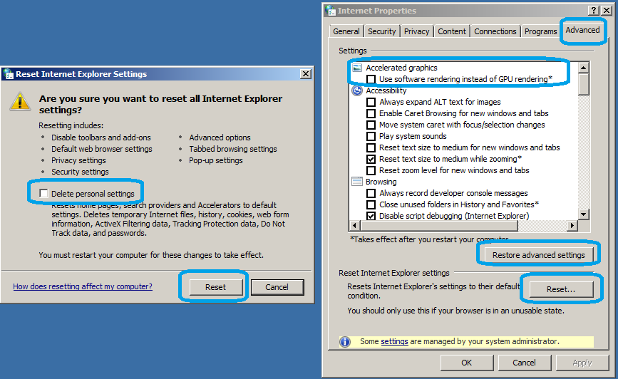 "How to fix ""Internet explorer has stopped working"""