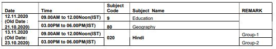 image: UGC NET June 2020 Revised Exam Schedule NOV 2020 @ TeachMatters