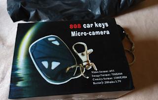 التوصل بكاميرا سرية على شكل مفتاح سيارة Car Key Chain Micro Camera