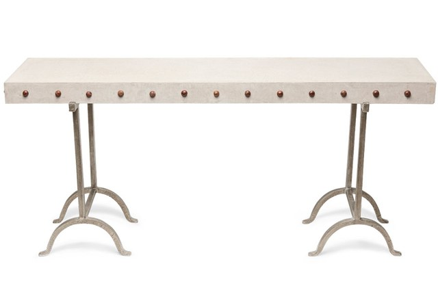 From Their Very First Collection Of Furniture, Made Goods Keeps Producing  Great Pieces. The Peter Console Has A Concrete Studded Top On A Wrought  Iron Base, ...