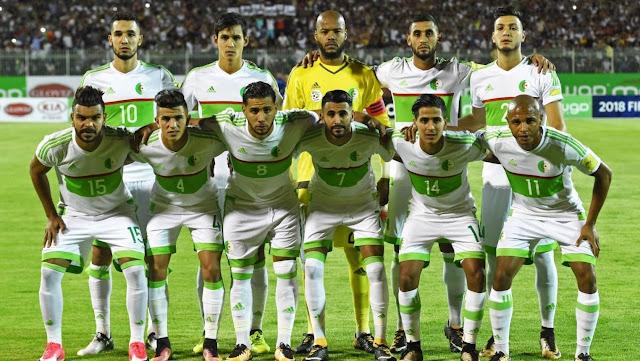تشكيل الجزائر ضد كولومبيا عبر سوفت سلاش