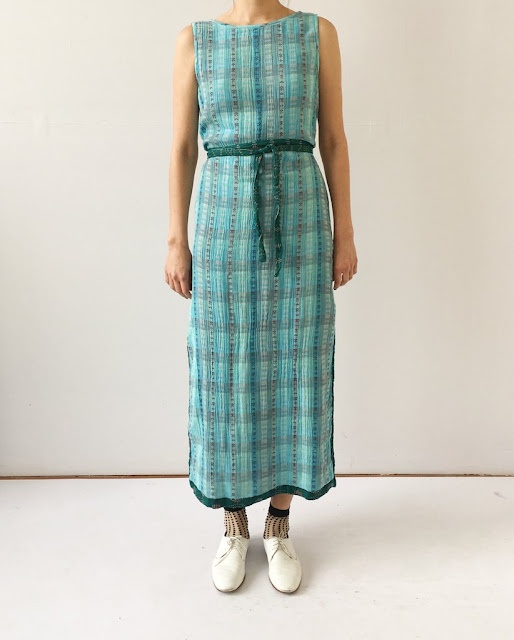 Ace & Jig Slipper Dress in Emerald/Sky