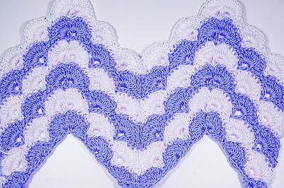 4 - CROCHET IMAGEN Puntada zig zag en abanicos a crochet y ganchillo. Majovel crochet.