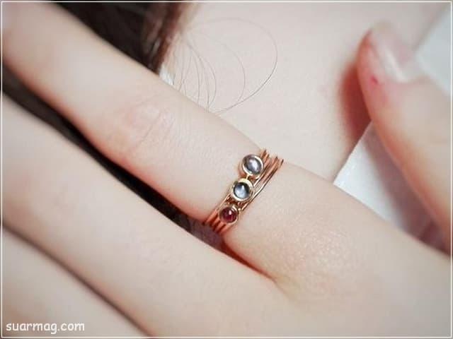 خواتم ذهب رقيقه جدا 2 | Simple gold rings 2
