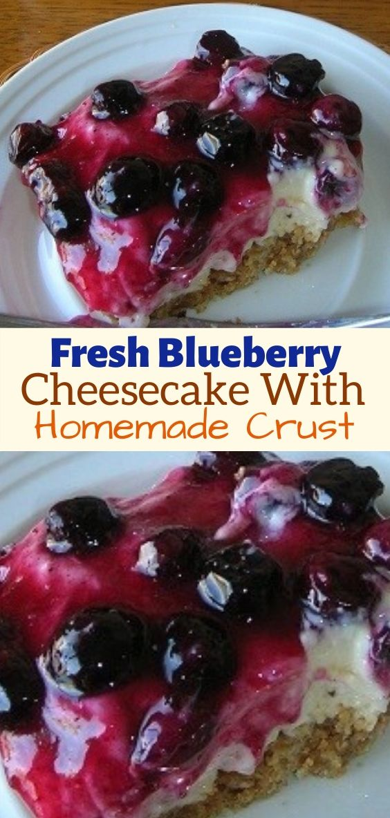 The Best Blueberry Cheesecake With Homemade Crust